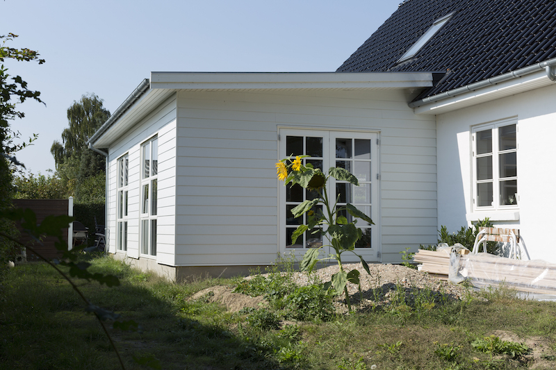 Tilbygning lavet af Byggetilladelsen i Haslev