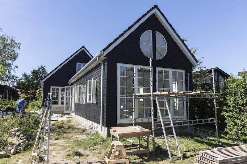 Tilbygning i Hørsholm af Byggetilladelsen